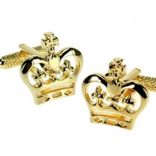 Gold Crown Gilt Cufflinks
